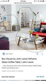 John Lewis airframe set! Desk, coffee table and shelf