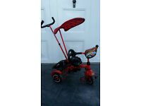 Disney Cars Lighting McQueen Children's / Child Tricycle / Trike with Handle
