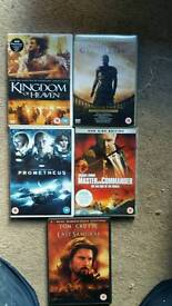 5 great dvd as new