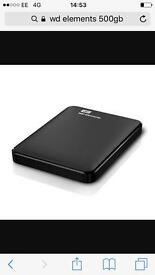 WD Elements 500GB portable hard drive