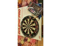 dart board and pro darts for sale