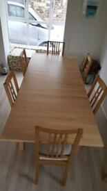 Ikea Norden extendable dining table and chairs