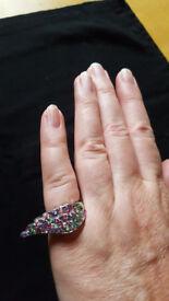 Unique designer sterling silver ring £4