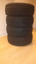4 Avon Winter Tyres, 205/55/R16 91T, 6mm thread