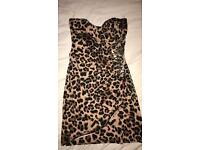 Lipsy strapless dress size8