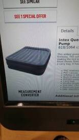 Inflatable bed.