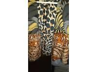 Ladies tiger print waistcoat