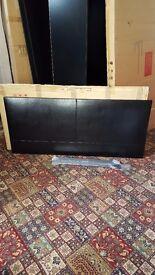 Brand new black double leather headboard £30