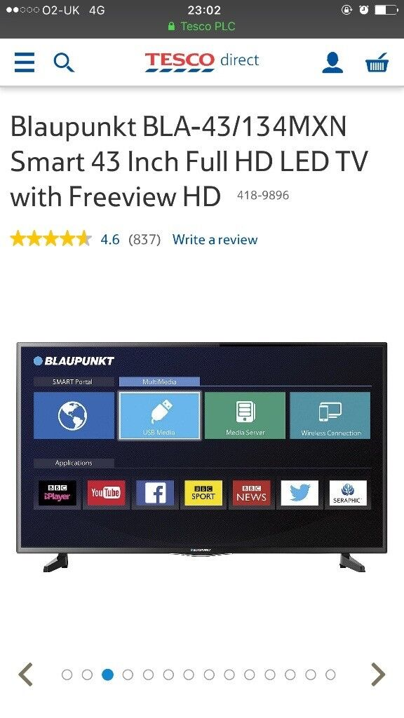 £120 if gone today 43 blaupunkt smart Tv basically brand new- still have box