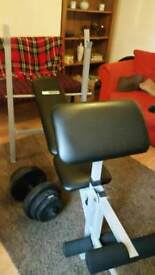 Weight reining bench and weight