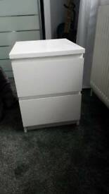 2 x bedside cabinets--ikea good condition