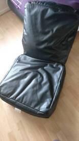 Plush single bed bean bag