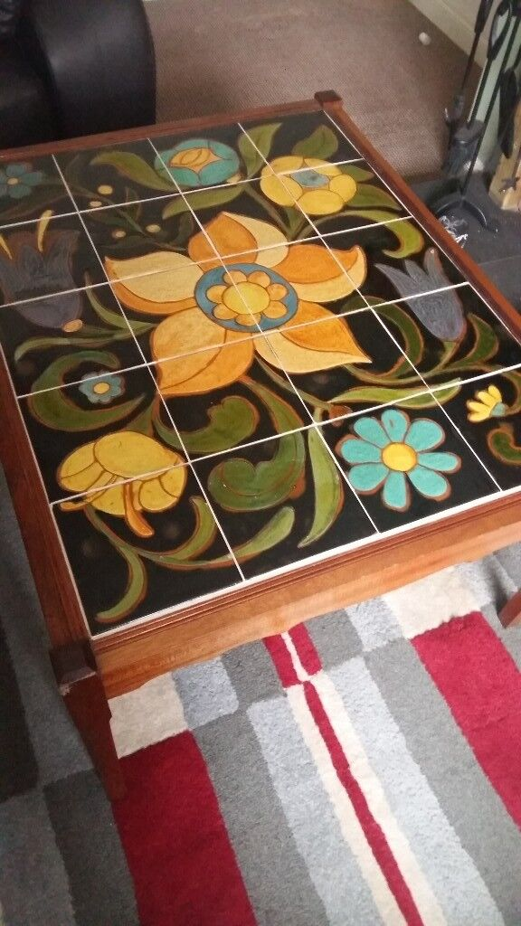 Retro Tiled Coffee Table Vgc In Dunmurry Belfast Gumtree