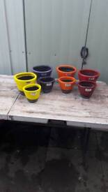 Ceramic pots large is 180h x 215w small is 170x135