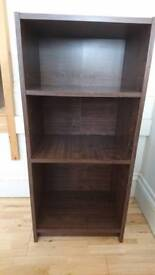 Argos Home Maine 2 shelf half width bookcase in walnut effect
