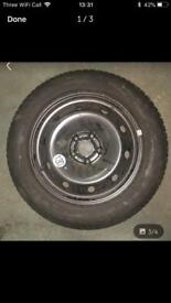 Renault Laguna steel wheel with unused Michelin tyre 205/55/16 collect from gorleston or stalham