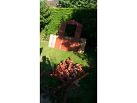 8' x 5' shed in panels or firewood. FREE