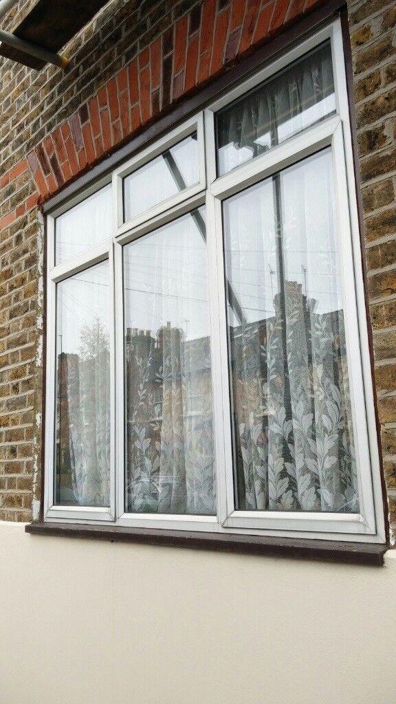 Large Silver Double Glazed Aluminium Window
