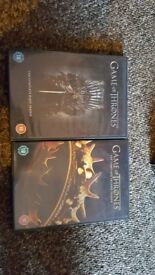 Game of Thrones seasons 1 and 2 dvds. All work fine, 5 discs per case. Complete set seasons 1 and 2.