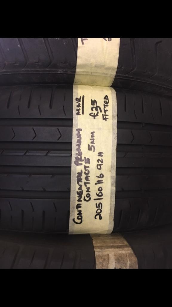 205/60/16 92H CONTINENTAL PREMIUM CONTACT 5 tyre
