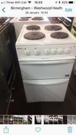 White beko 50cm electric cooker grill & oven good condition with guarantee