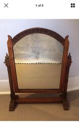 **SALE** Antique Victorian Oak Vintage Dressing Tabletop Mirror