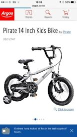14inch pirate bike with stabilisers