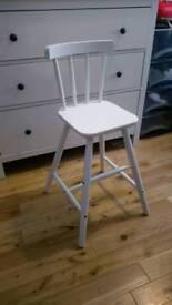 White wooden children's chair