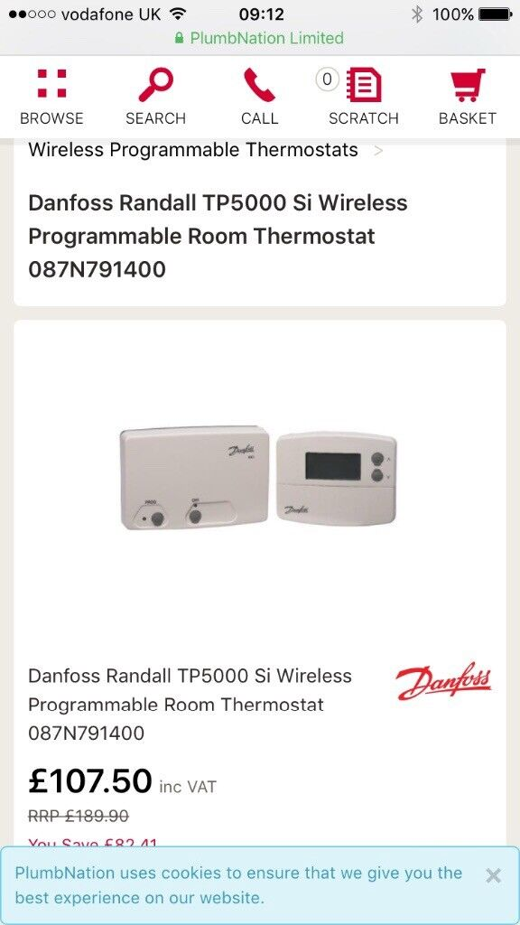 Danfoss Randall Wireless Thermostat In Sunderland Tyne And Wear