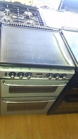 NEWWORLD silver 60Cm Gas Cooker in new Ex Display