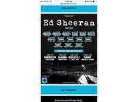 Ed Sheeran x2 standing tickets 22 June 2018