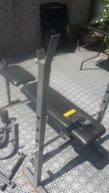 Weight bench and weights 45kg
