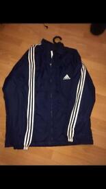 Men's blue Adidas coach coat size XL