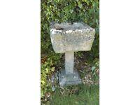 Large Stone Planter on pedestal great centerpiece
