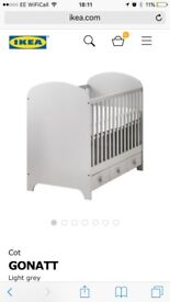 Ikea Cot Bed in Grey