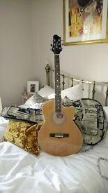Woodstock Folk Guitar (electro acoustic) + gig bag