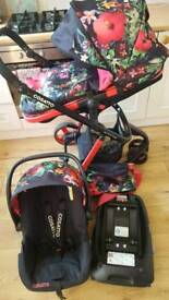 Cosatto Woop Tropico Pushchair, Stroller, Travel System, Car Seat, Isofix Base