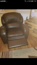 Real leather recliner chair(no delivery)