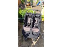 pram pushchair maxi cosi twin city mini comes with rare expensive fix-on nappy/bottle bag