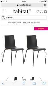 Stylish habitat dining chairs - set of 4