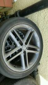 Momo alloy wheels fits vw t4 transporter 2 good tyres 225 45 17 112 x5 needs refurbished