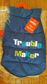 Troublemaker Dog Coat by PETS - Small - BNWT