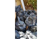 FREE 13 BAGS OF RUBBLE FOR GARDEN PROJECT (soil and rocks)