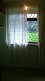 Mothercare cot bedding with matching curtains