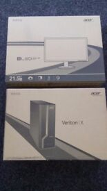 Acer Veriton 219 GB PC, 21.5 inch Flat screen, Keyboard, Mouse, £125.00 VALUE (3 available)
