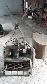 Vintage Ransomes petrol lawn mower