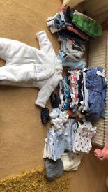Baby boy clothing & silvercross wayfarer selling as package