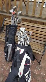 38 golf clubs, bag and balls