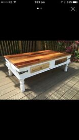 Indian rose wood coffee table.