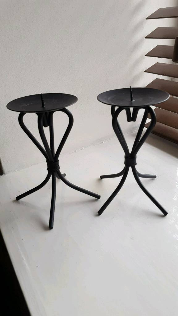 Pair of stylish candle holders. In very good condition.